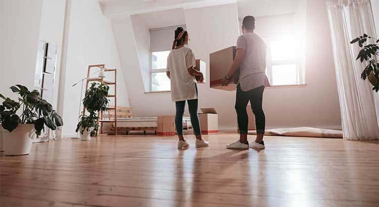 New home owners moving in